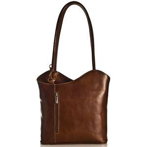 Vera Pelle Leather Convertable Shoulder Backpack